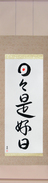 Japanese Hanging Scroll - Everyday is a good day (nichinichi kore koujitsu)  (VD3A)