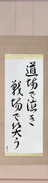 Japanese Hanging Scroll - Cry in the dojo - Laugh on the battlefield (doujou de naki senjou de warau)  (VD7A)